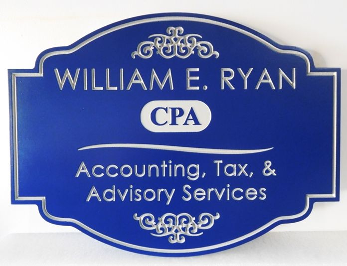 C12068 - Engraved  Sign for CPA  Specializing in Accounting and Taxes