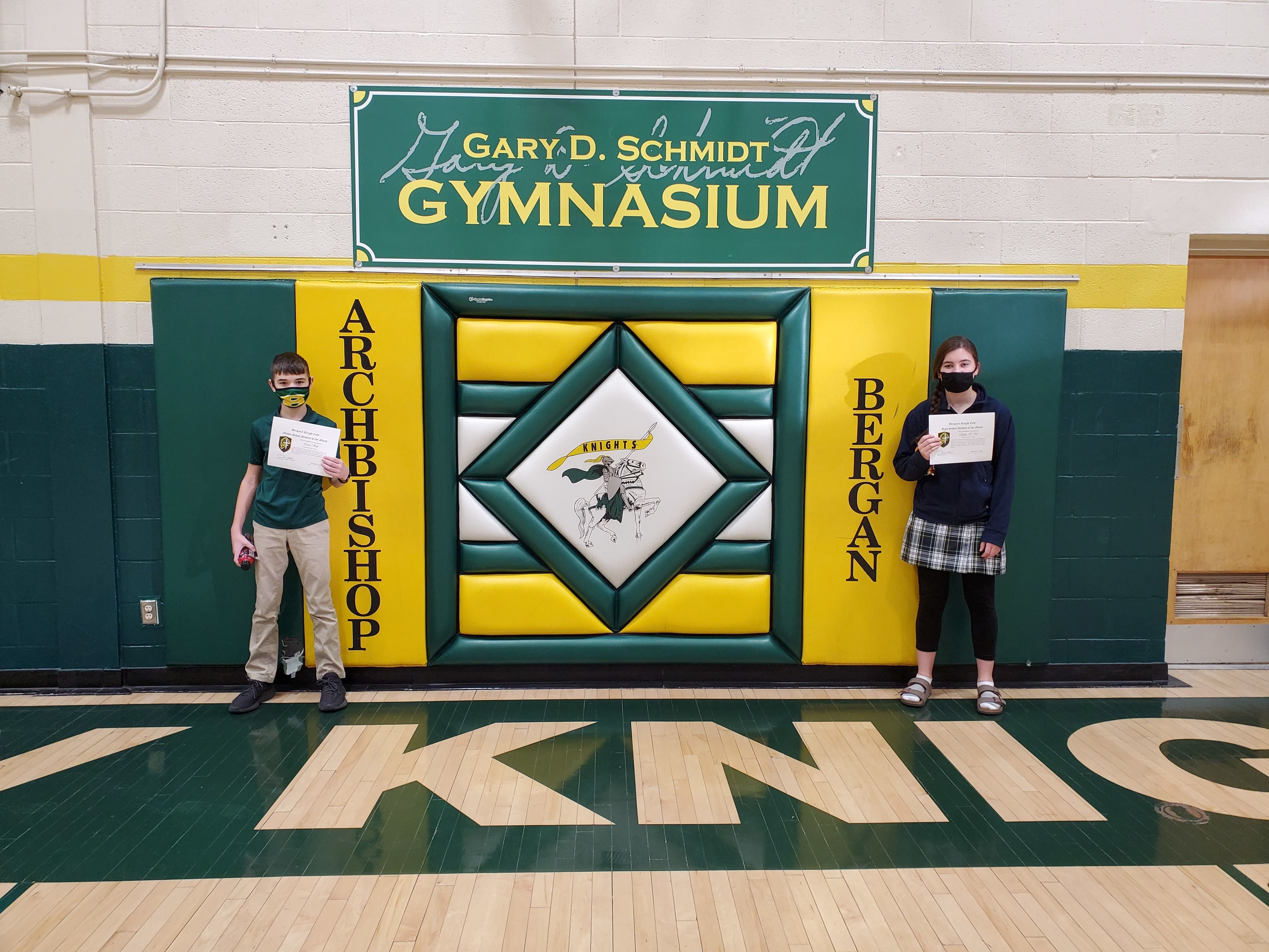 Knight's Code November Students of the Month
