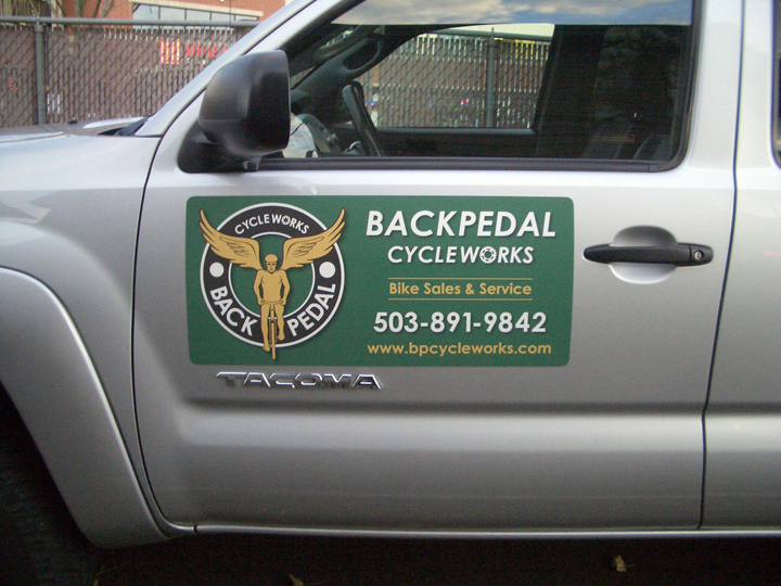 Back Pedal Vehicle Magnet