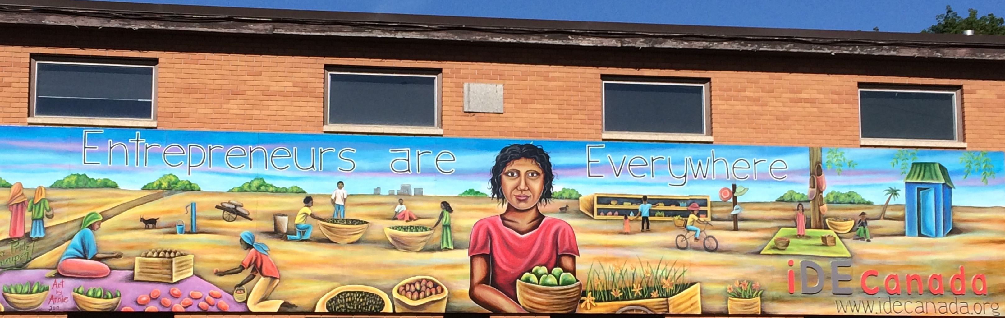 iDE Canada Celebrates Unveiling of New Mural