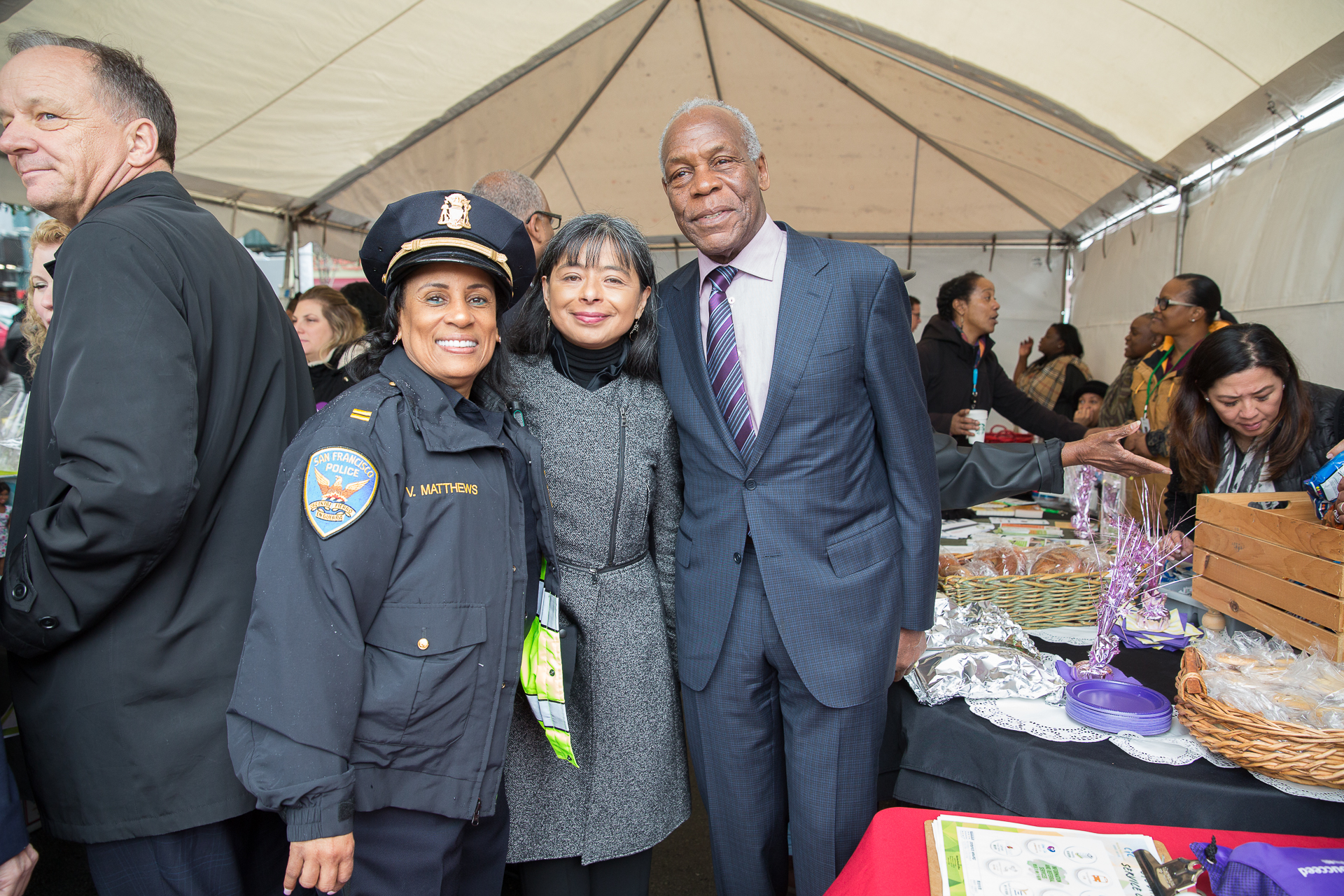 San Francisco's finest joined in the festivities with Jilma Meneses and Danny Glover.