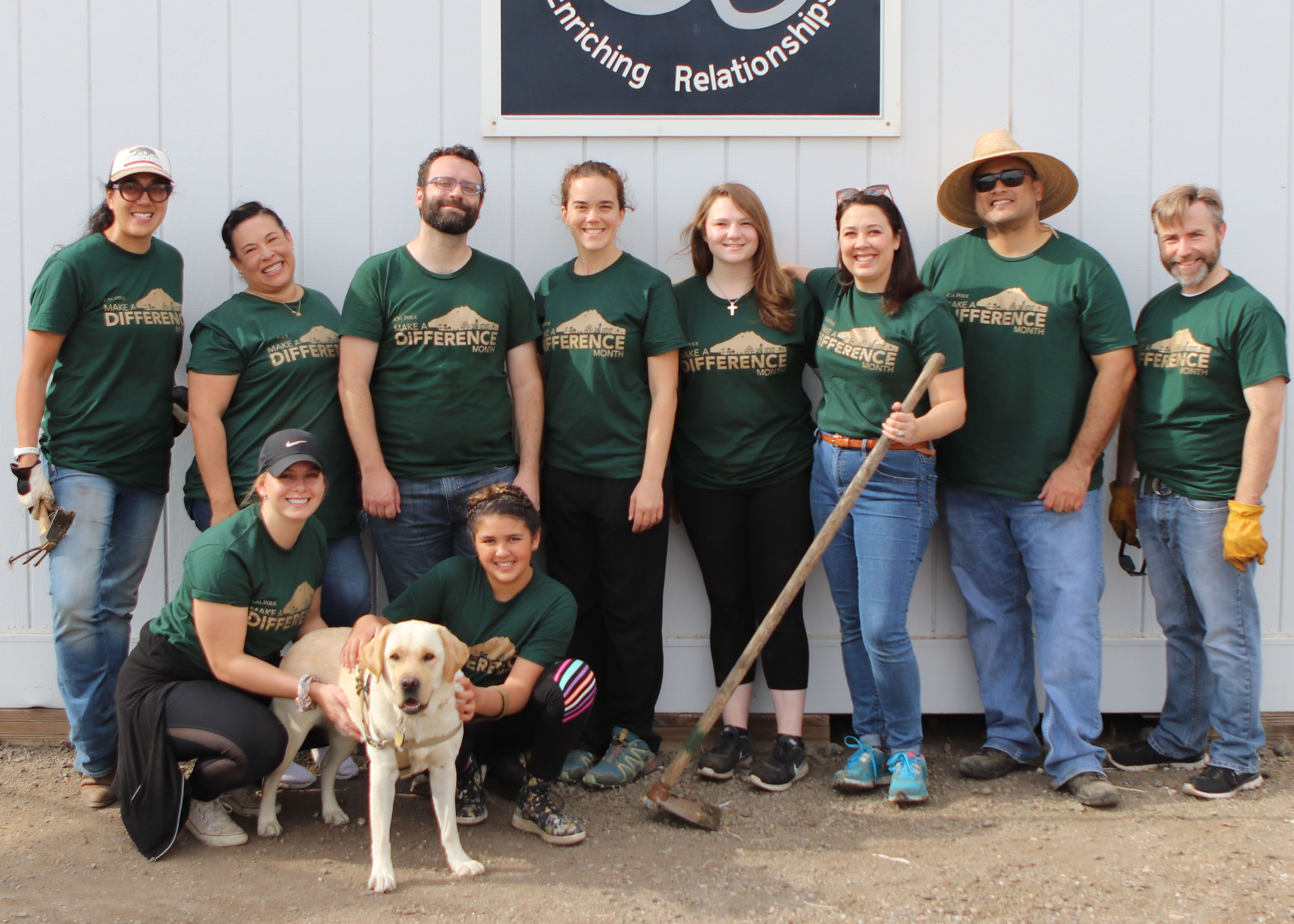Thank you to Cal Poly Make a Difference Month Staff Volunteers!