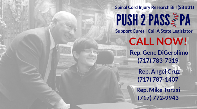 Call Now! Pennsylvania $1M SCI Research Bill