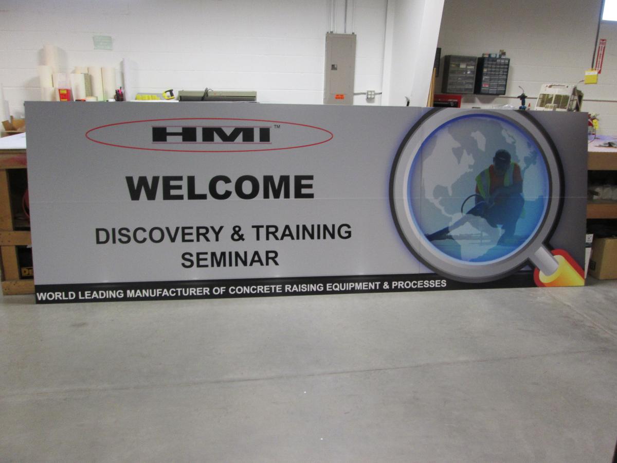 HMI Training Sign