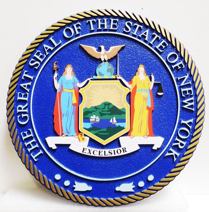 BP-1352 - Carved Plaque of the Great Seal of the State of New York, Giclee Print
