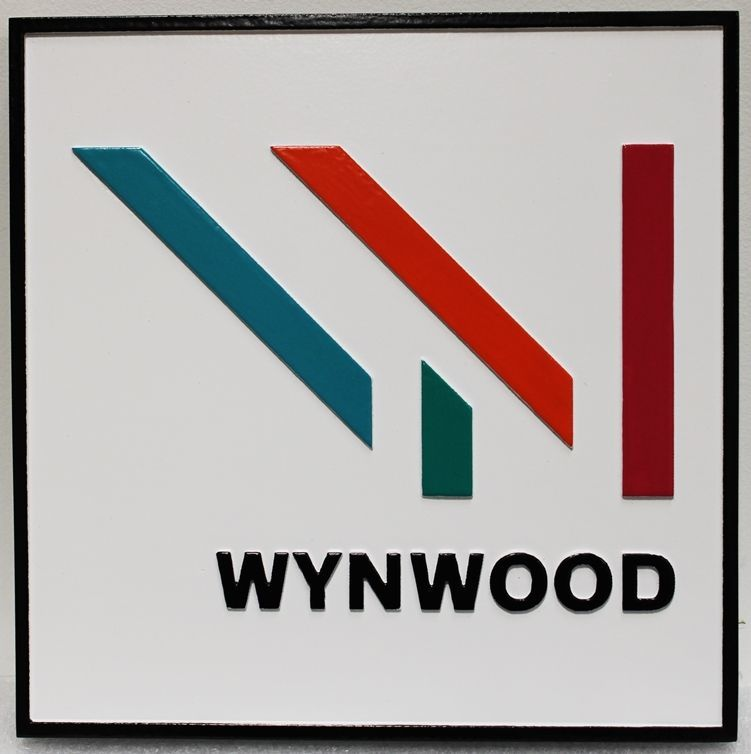 S28208 - Carved 2.5-D Raised Relief HDU Sign for Wynwood