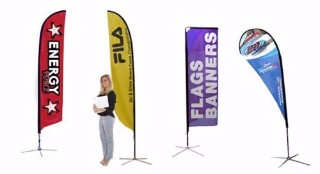 Trade show banners and flags in Bend Oregon