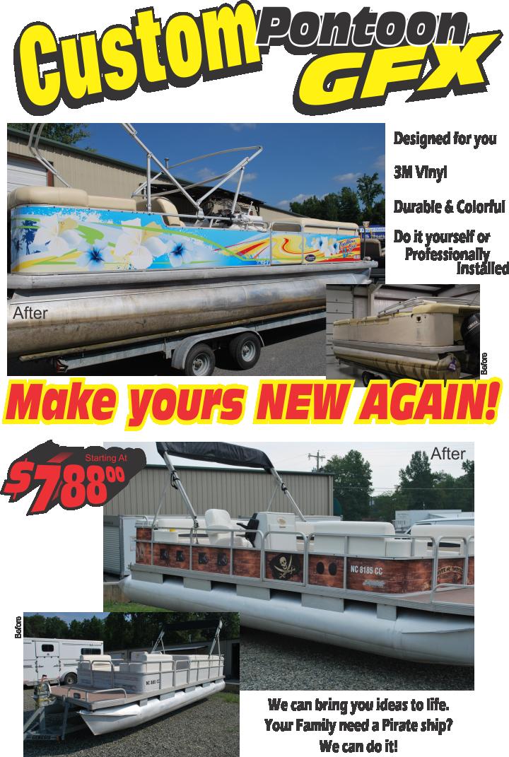 Pontoon Wraps Graphics - Vinyl decals for pontoon boats