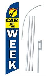 Car of the Week Swooper/Feather Flag + Pole + Ground Spike