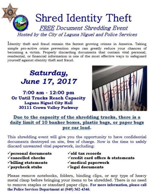 FREE Shredding Event