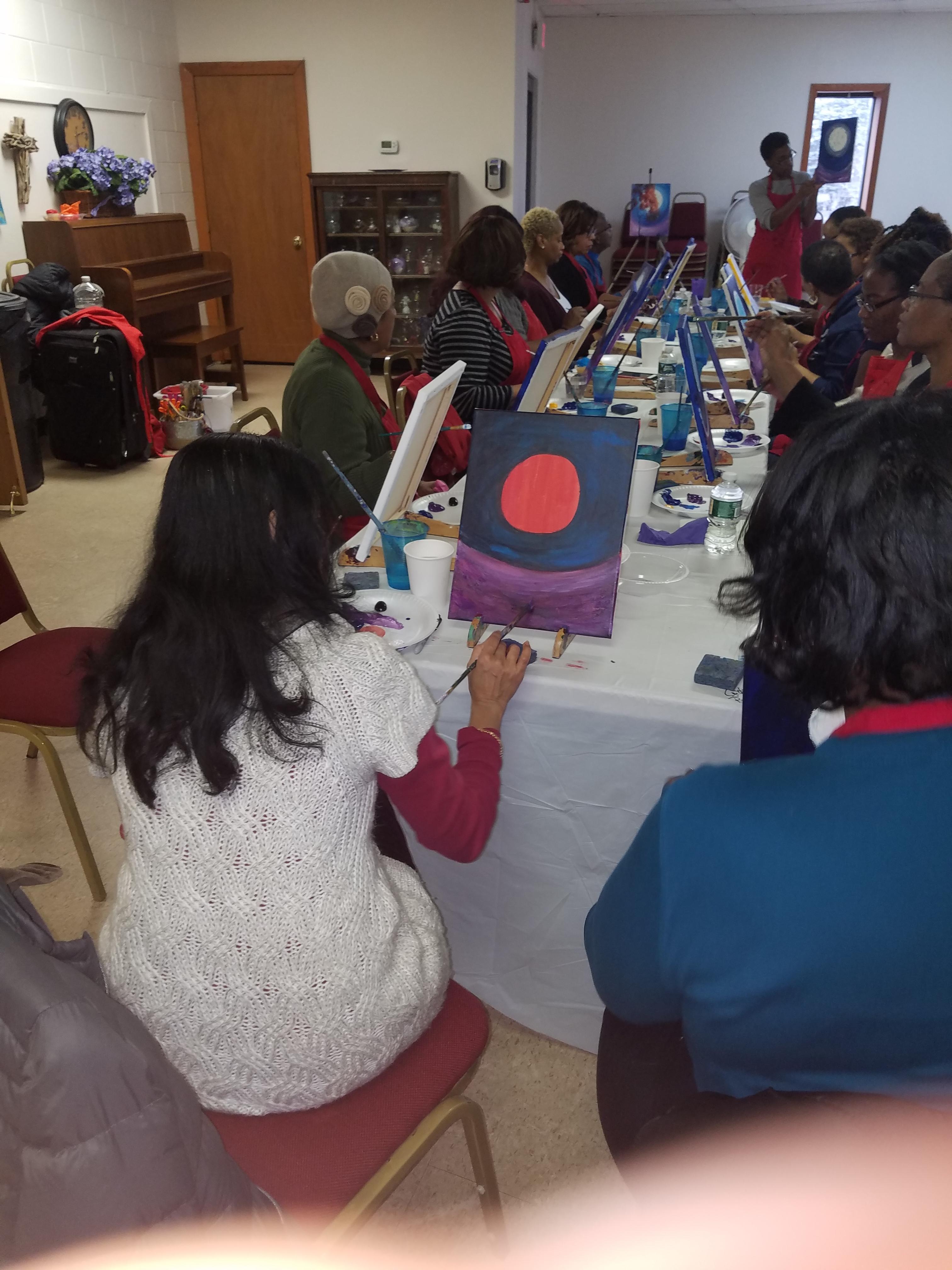 Paint Party Fundraiser Jan 2017