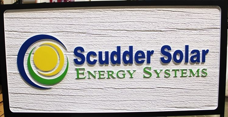 S28064 - Carved 2.5D HDU Sign for the Scudder Solar Energy Systems