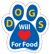 Dogs will for food