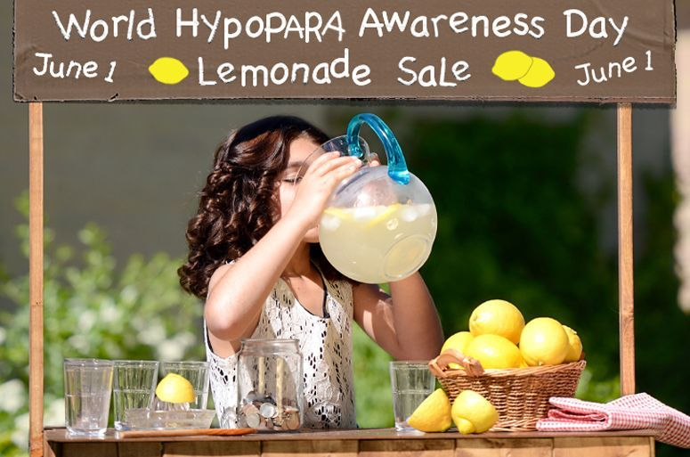 """Drinks for Sale! We're getting an early start on """"World HypoPARA Awareness Day"""""""