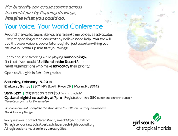 Your Voice, Your World Conference