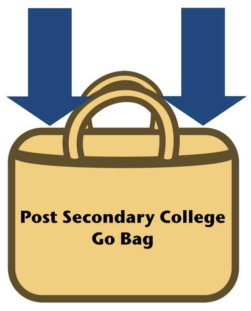 Post-secondary (College) Go Bag