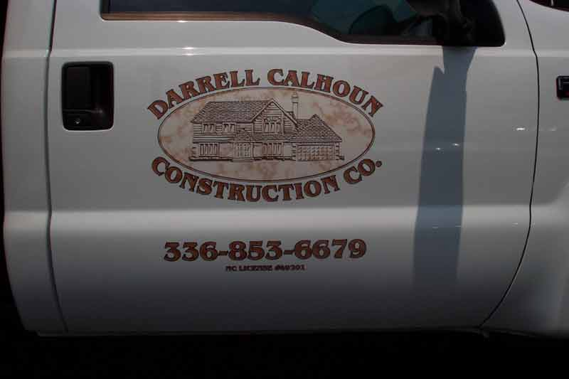 Truck Lettering Printed