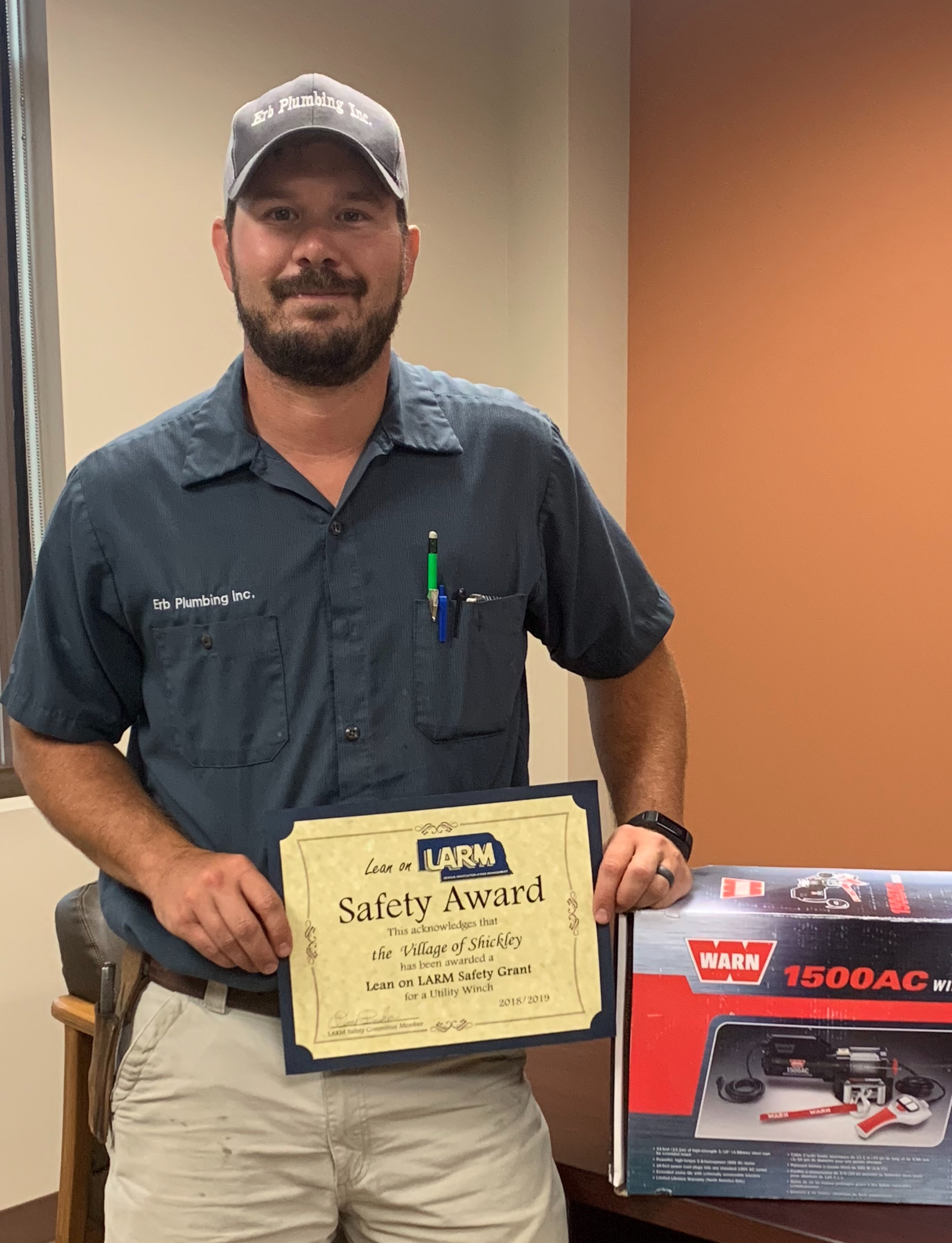 The Village of Shickley purchases safety winch with LARM grant