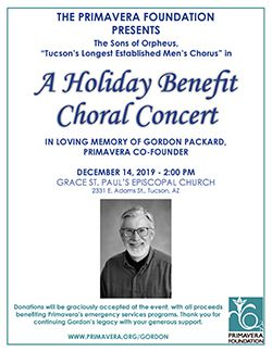 A Holiday Benefit Choral Concert (In Memory of Gordon Packard)