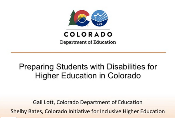 Webinar: Preparing Students with Disabilities for Higher Education