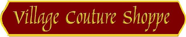 SA28380 - Sign for Village Couture Shoppe, withEngraved Text with 24K Gold-Leaf Gilding