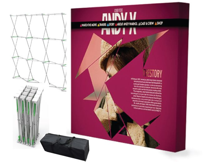 8x8 Fabric Pop Up Display