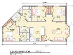 3 Bedroom 1113 SF