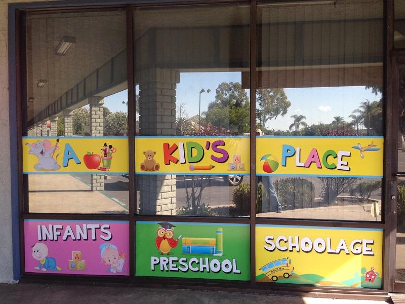 Preschool window graphics