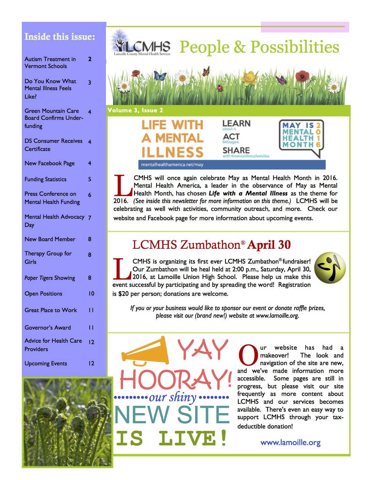 2016 Spring Newsletter