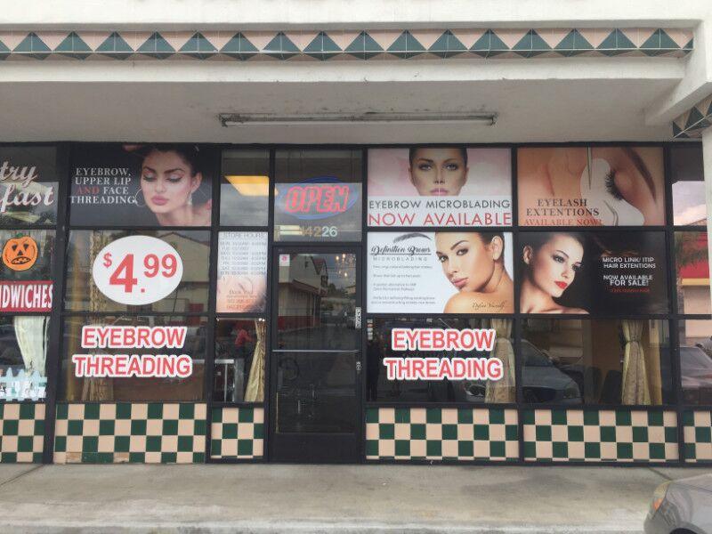 Window Graphics for Beauty Retailers in La Mirada CA