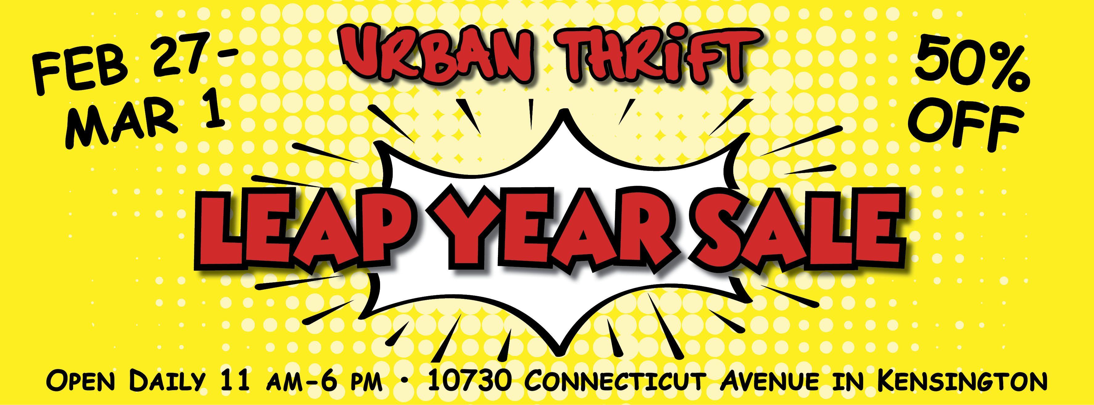 Urban Thrift Leap Year Sale