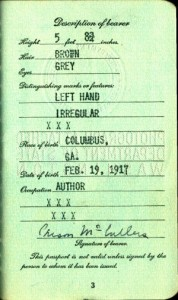 McCullers' passport