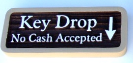 KA20561 - Carved WoodGrain HDU Sign for Rent Drop No Cash Accepted