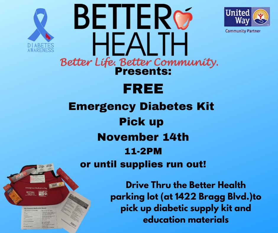 Better Health FREE Emergency Diabetes Kit