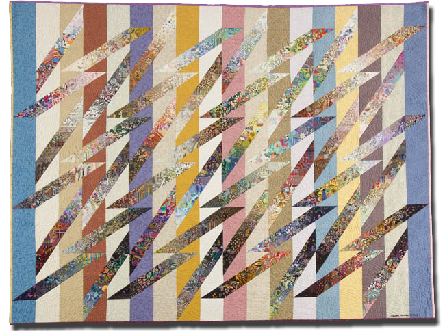 'Colourwash Spillikins,' made by Dierdre Amsden, made in Norfolk, England, United Kingdom, dated May 1998, 62.5 x 80 in, IQSCM 2005.038.0001