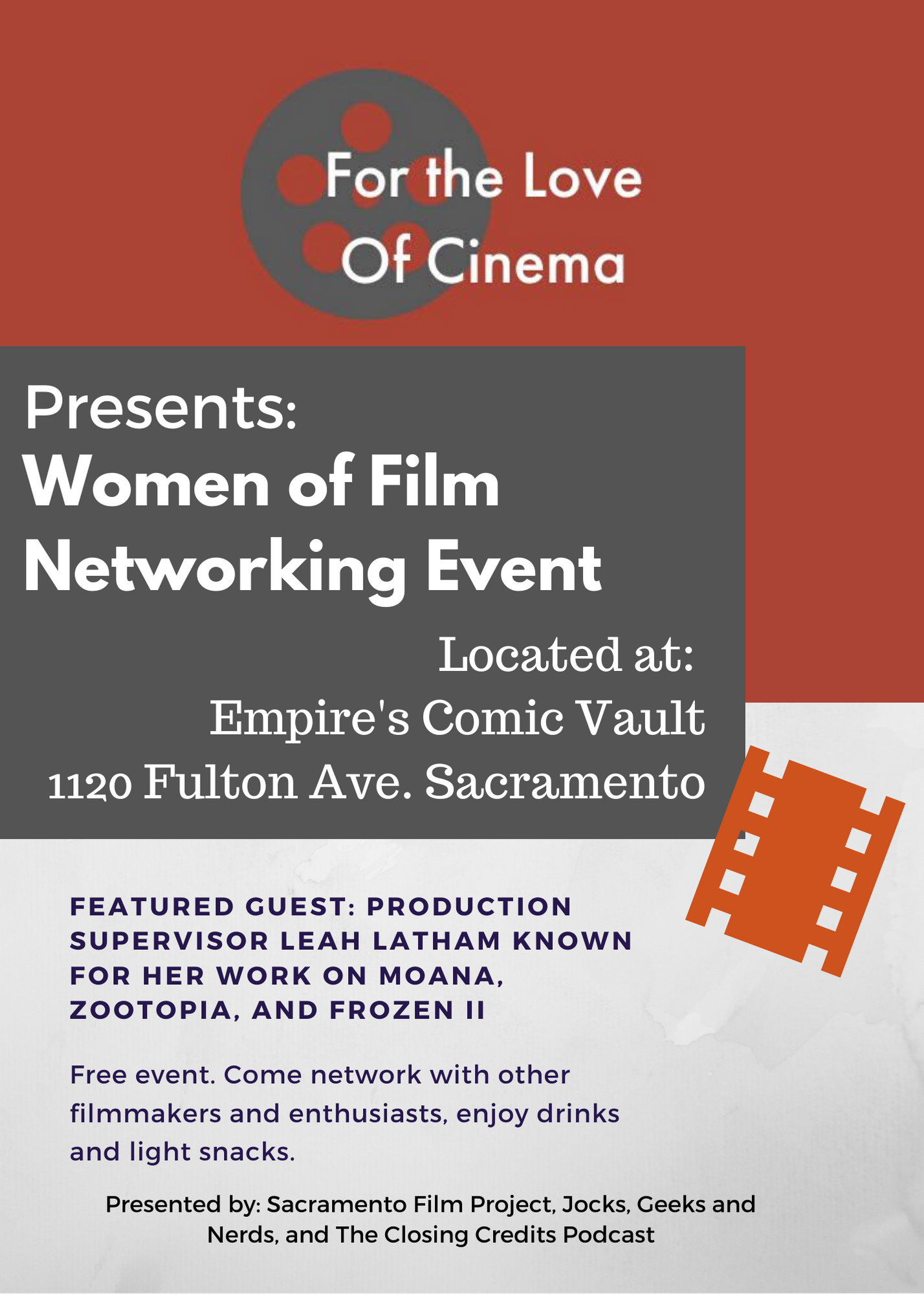 For the Love of Cinema: Women in Film Networking Event