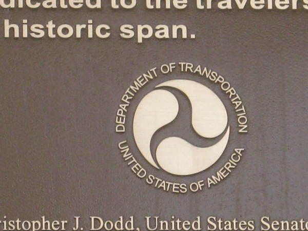 Cast Bronze Plaque, Large 3 ft x 5 ft, Detail of U S DOT Seal, Riverfront Park North Walk Project