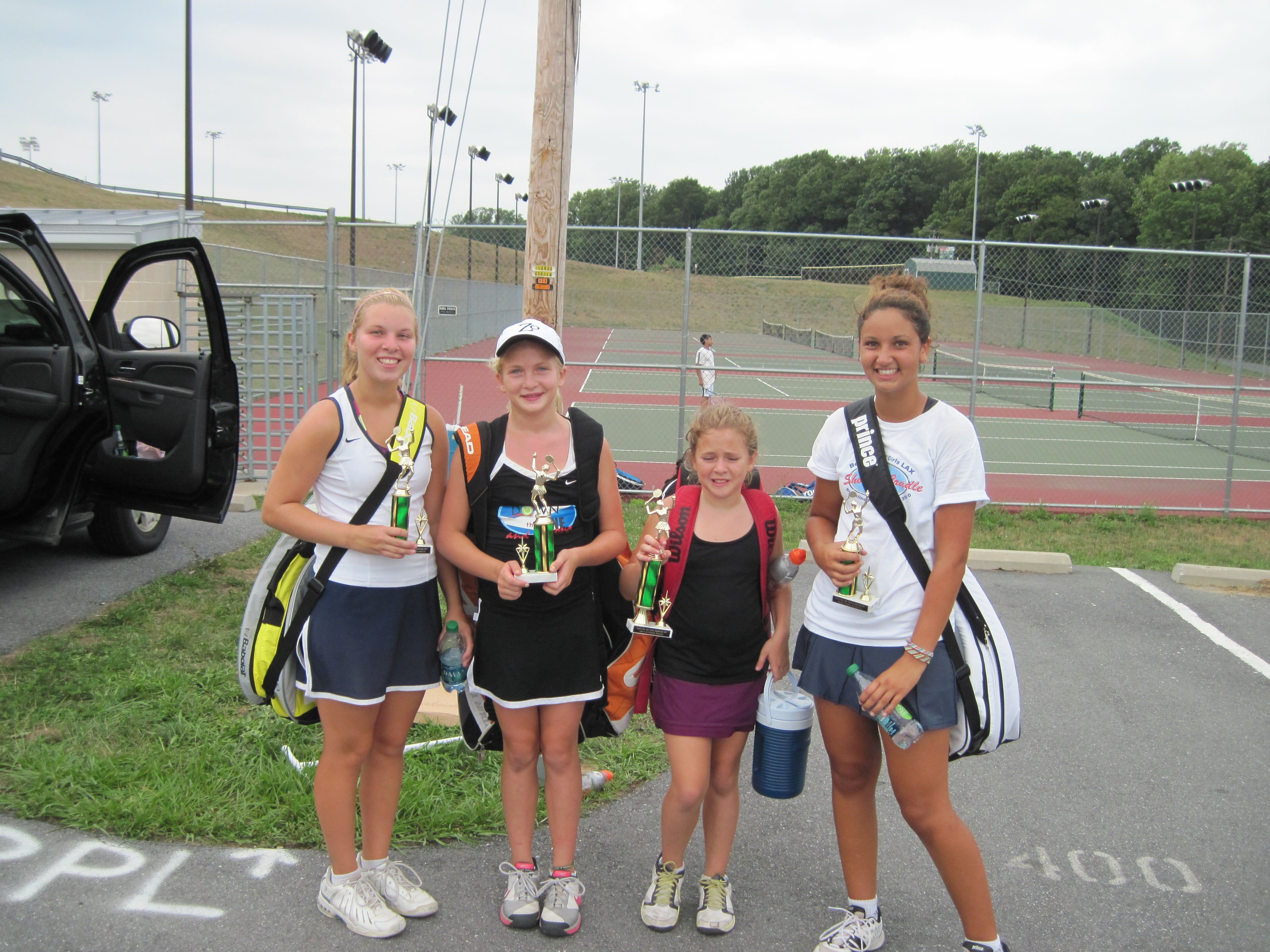Set Point Tennis Open Girls Doubles Champion and Runnerup