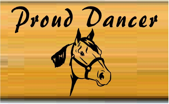 "P25422 - Large Oak Stall Sign for Horse ""Proud Dancer"""