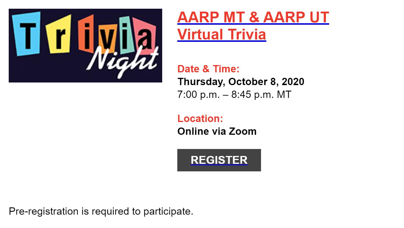 Sharpen Your Brain with AARP MT Trivia Night