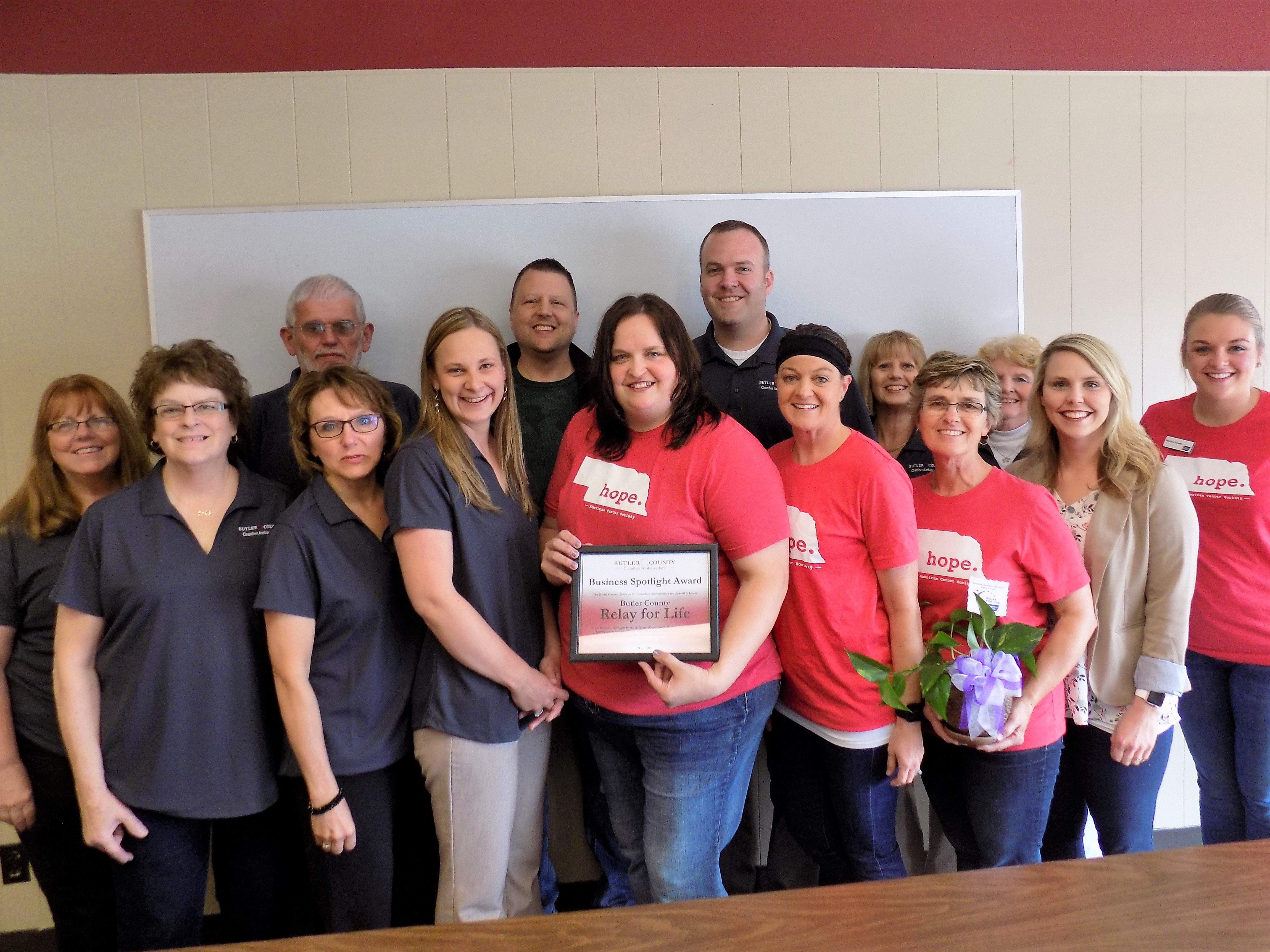 Butler County Relay for Life Recieves Chamber Ambassadors Business Spotlight for May 2017