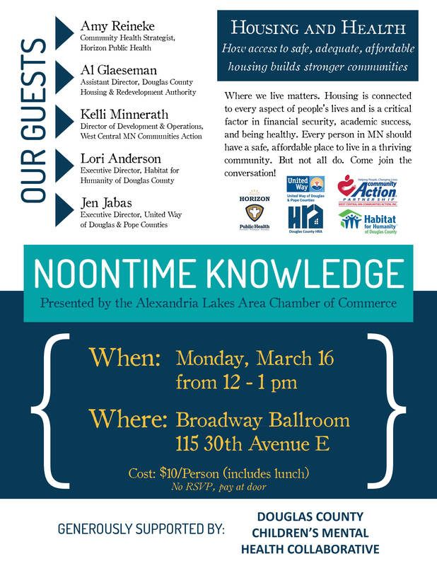 Learn about Housing and Health at March Noontime Knowledge