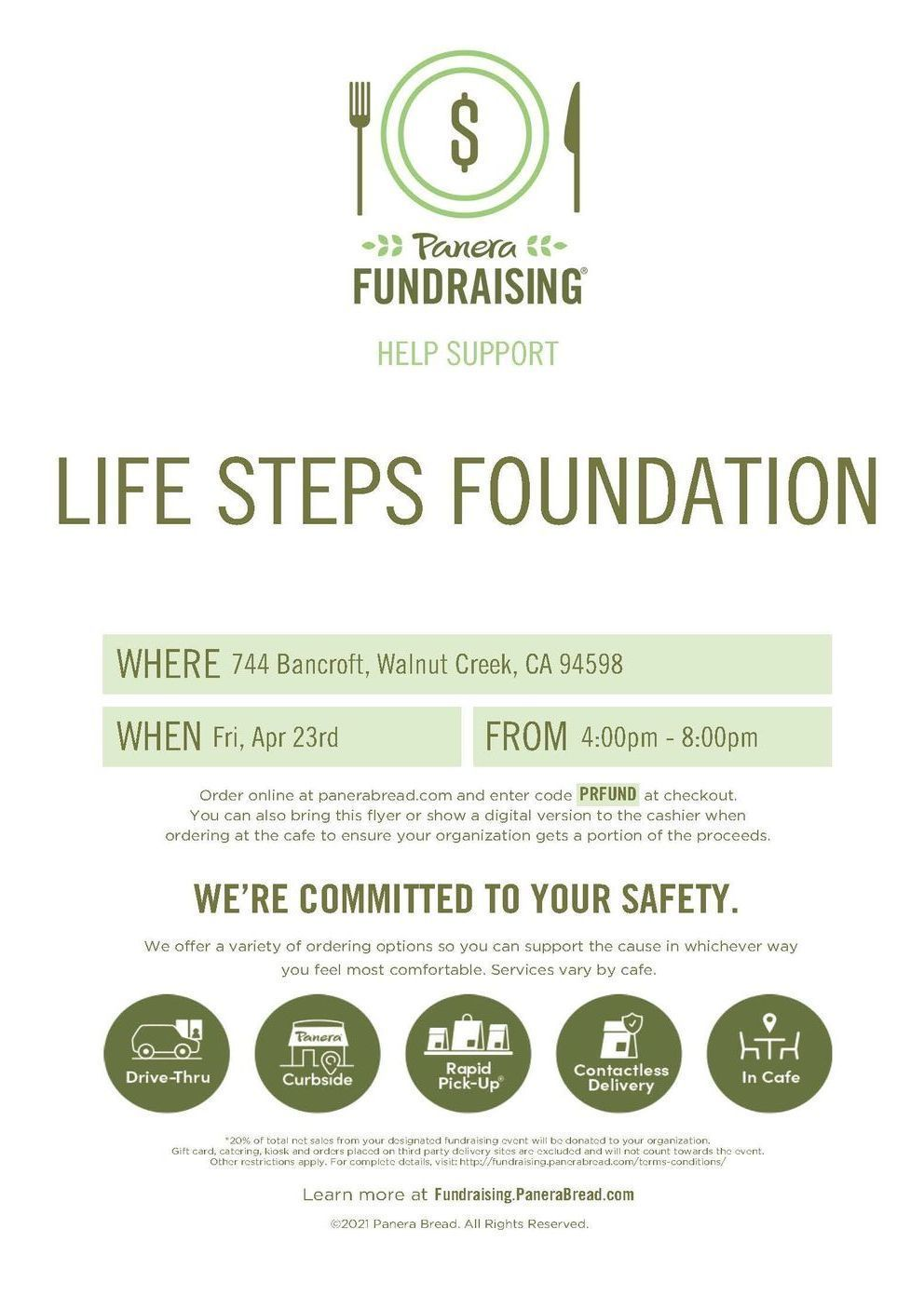 Panera Fundraiser in Walnut Creek,CA
