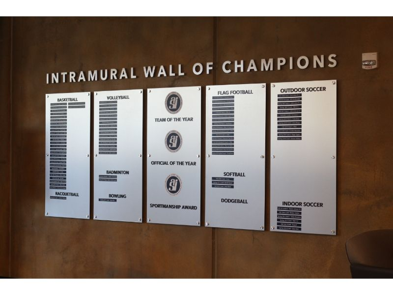 Intramural Wall of Fame for Schools in Orange County CA