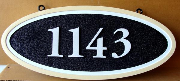 I18874 - Elliptical Hanging Address Number Sign