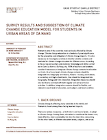 Survey results and Suggestion of Climate Change Education model for Students in Urban Areas of Da Nang