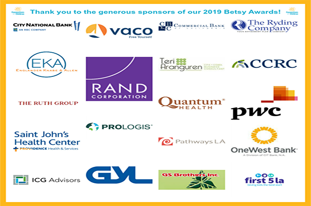Thank you to the generous sponsors of our 2019 Betsy Awards!