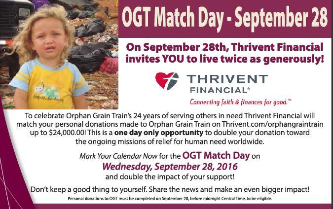 OGT Match Day - September 28, 2016