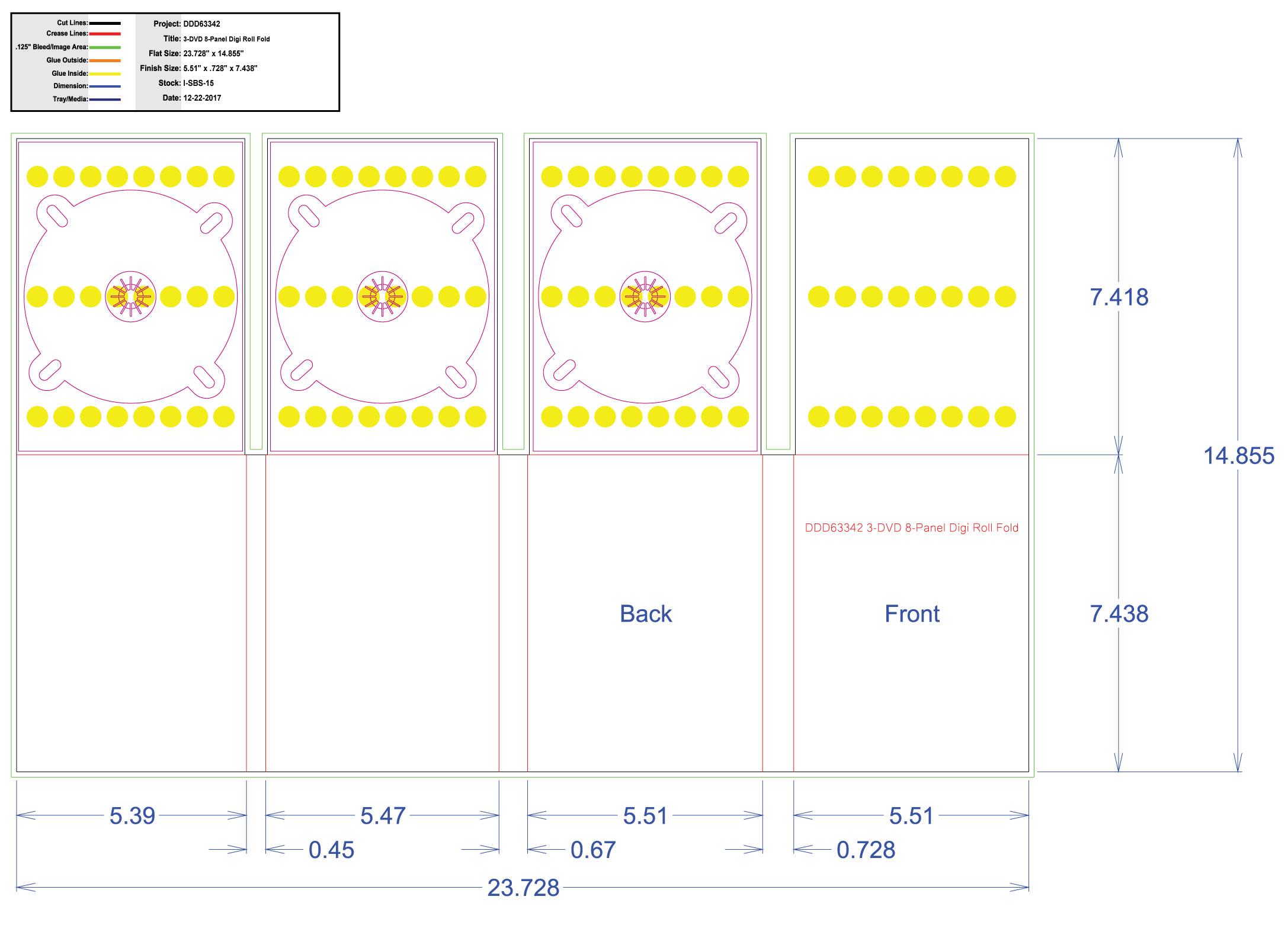 DDD63342 DVD 8 Panel Digi 3 Tray, No Pocket