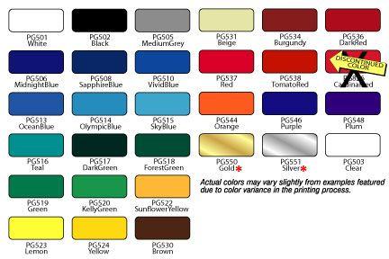 RTA Color Chart